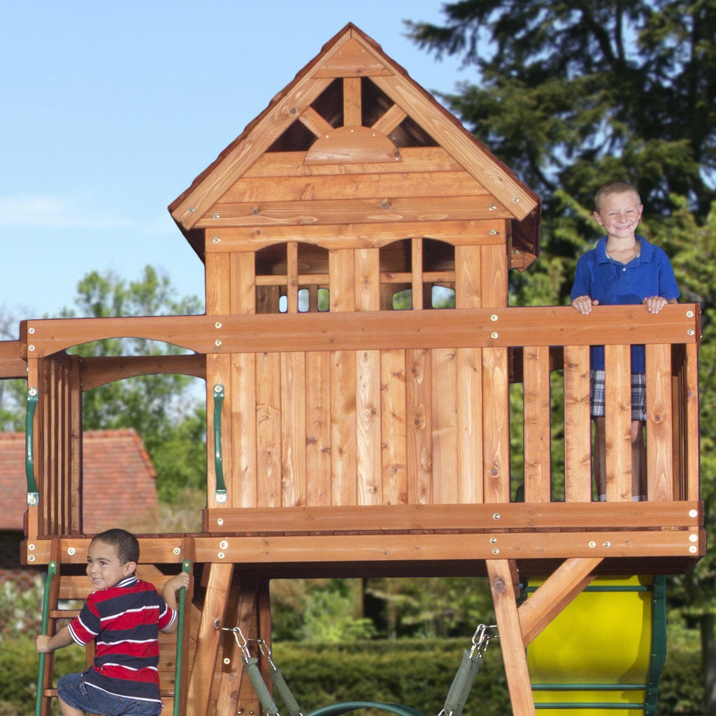Genial Nla   Cedar View Wooden Swing Set