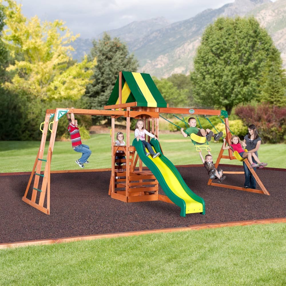 colorado wooden swing set swing sets backyard discovery