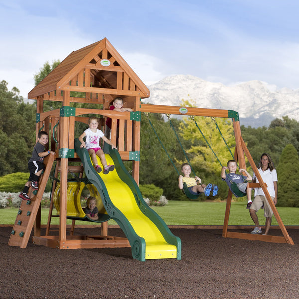 Nla - Compass Wooden Swing Set #header #features