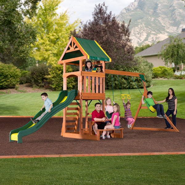 Nla - Dillon Wooden Swing Set #header #features