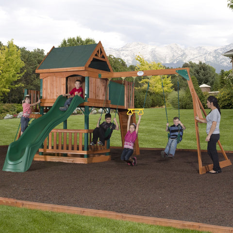 Nla - Hawkeye Wooden Swing Set #header #features