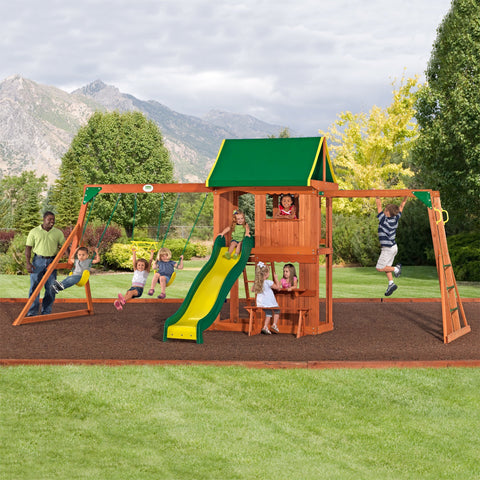 Nla - Lexington Wooden Swing Set  #header #features