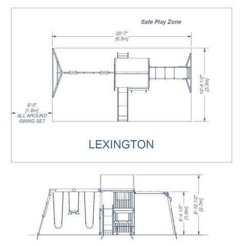 Nla - Lexington Wooden Swing Set #details