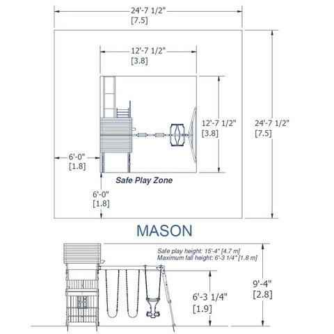 Nla - Mason Wooden Swing Set #details