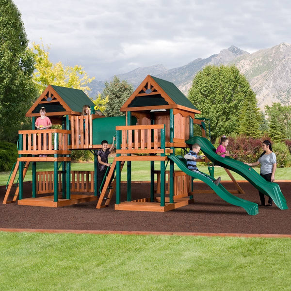 Nla - Montana Wooden Swing Set #header #features