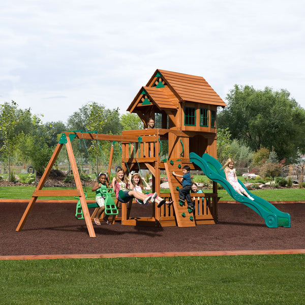 Nla - Windsor II Wooden Swing Set #header #features