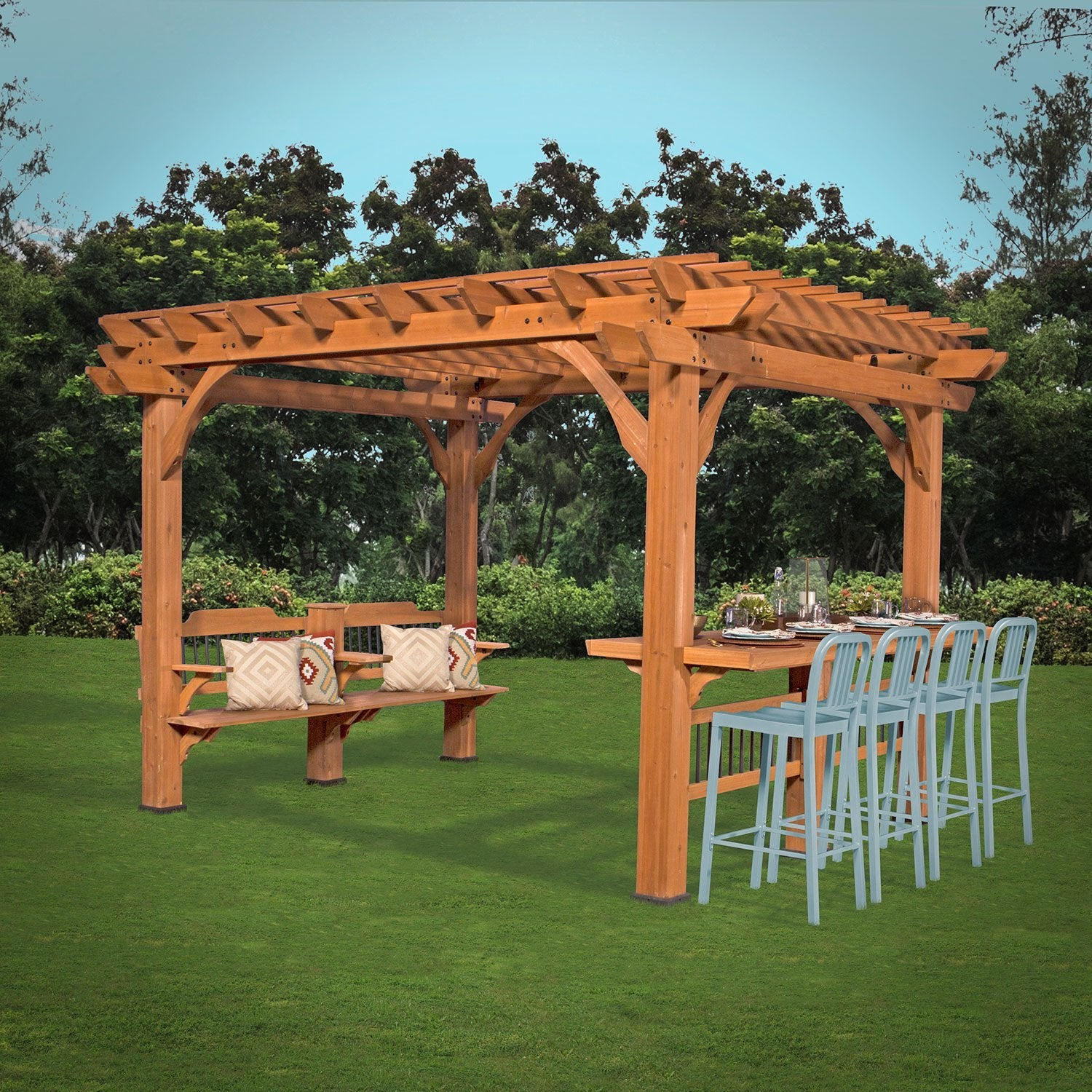 oasis pergola 12 x 10 pergola patio backyard discovery. Black Bedroom Furniture Sets. Home Design Ideas