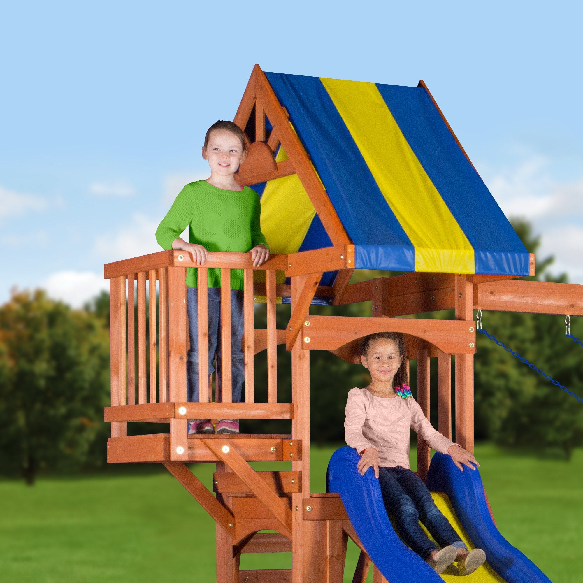 peninsula wooden swing set