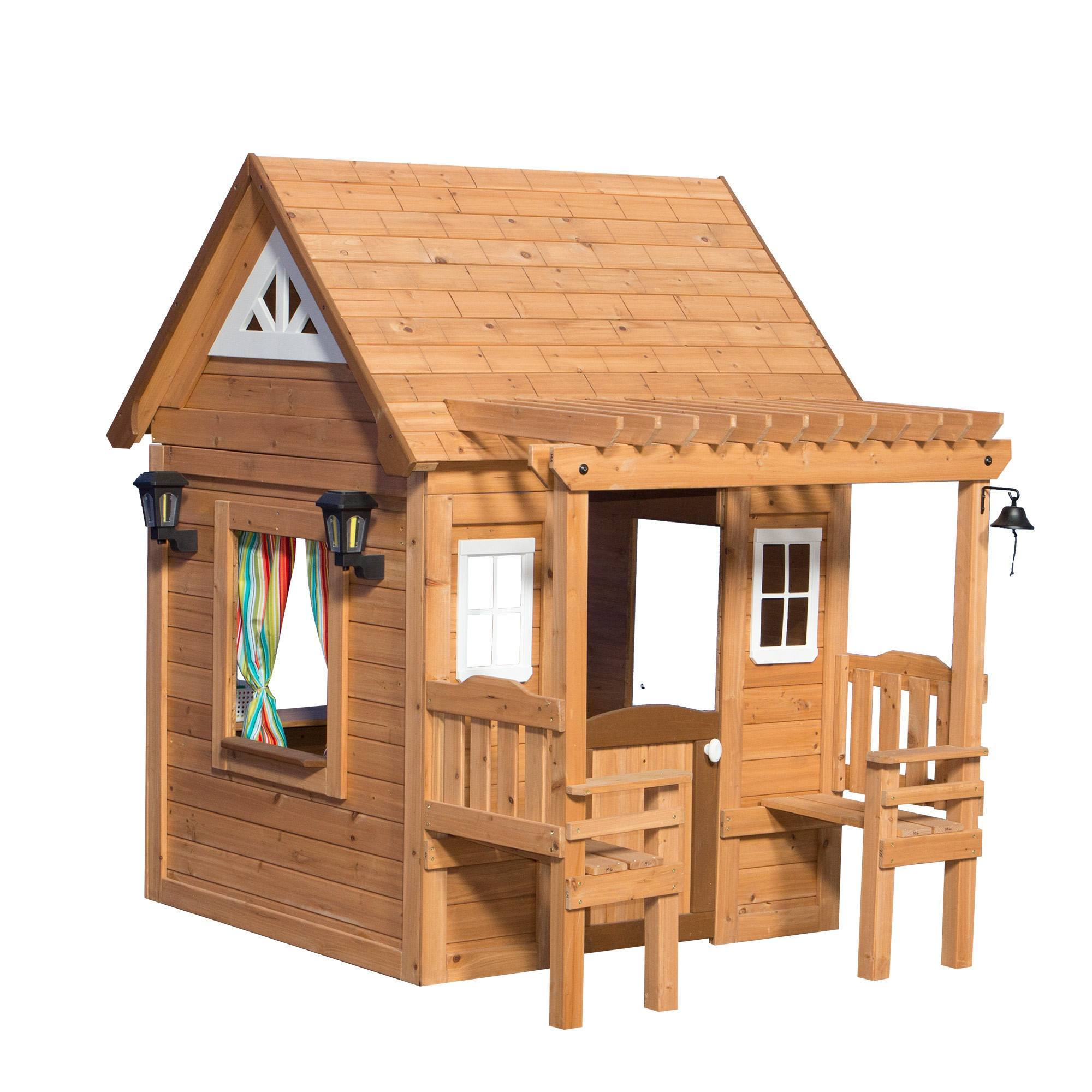 Cascade playhouse wooden playhouses backyard discovery for Cascade house