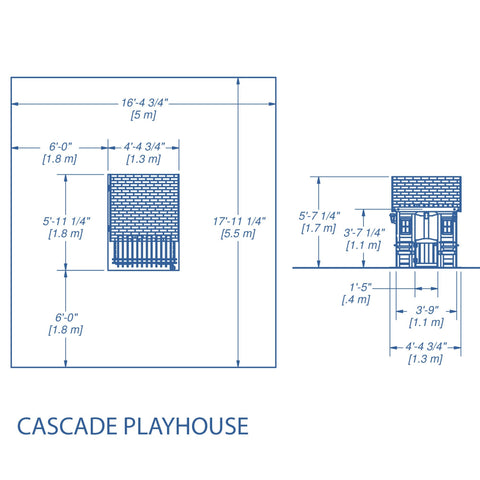 Wooden Playhouses - Cascade Playhouse #details
