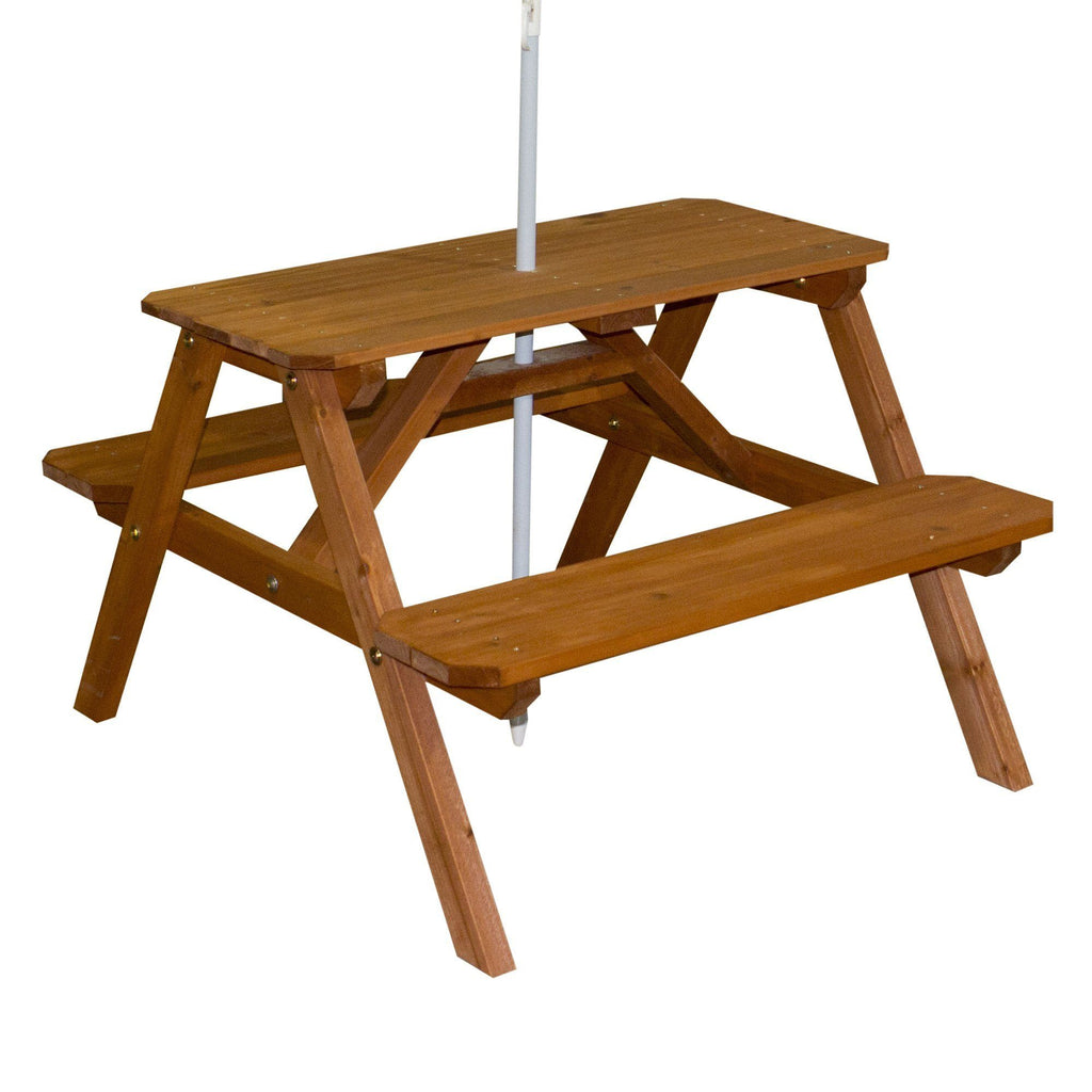 Sunny Cedar Picnic Table Accessories Backyard Discovery - Ready to assemble picnic table