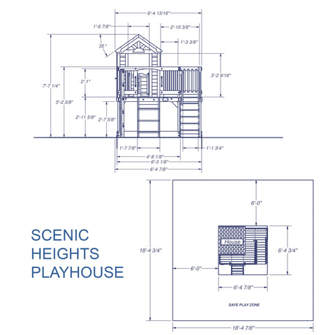 Wooden Playhouses - Scenic Heights Wooden Playhouse #details
