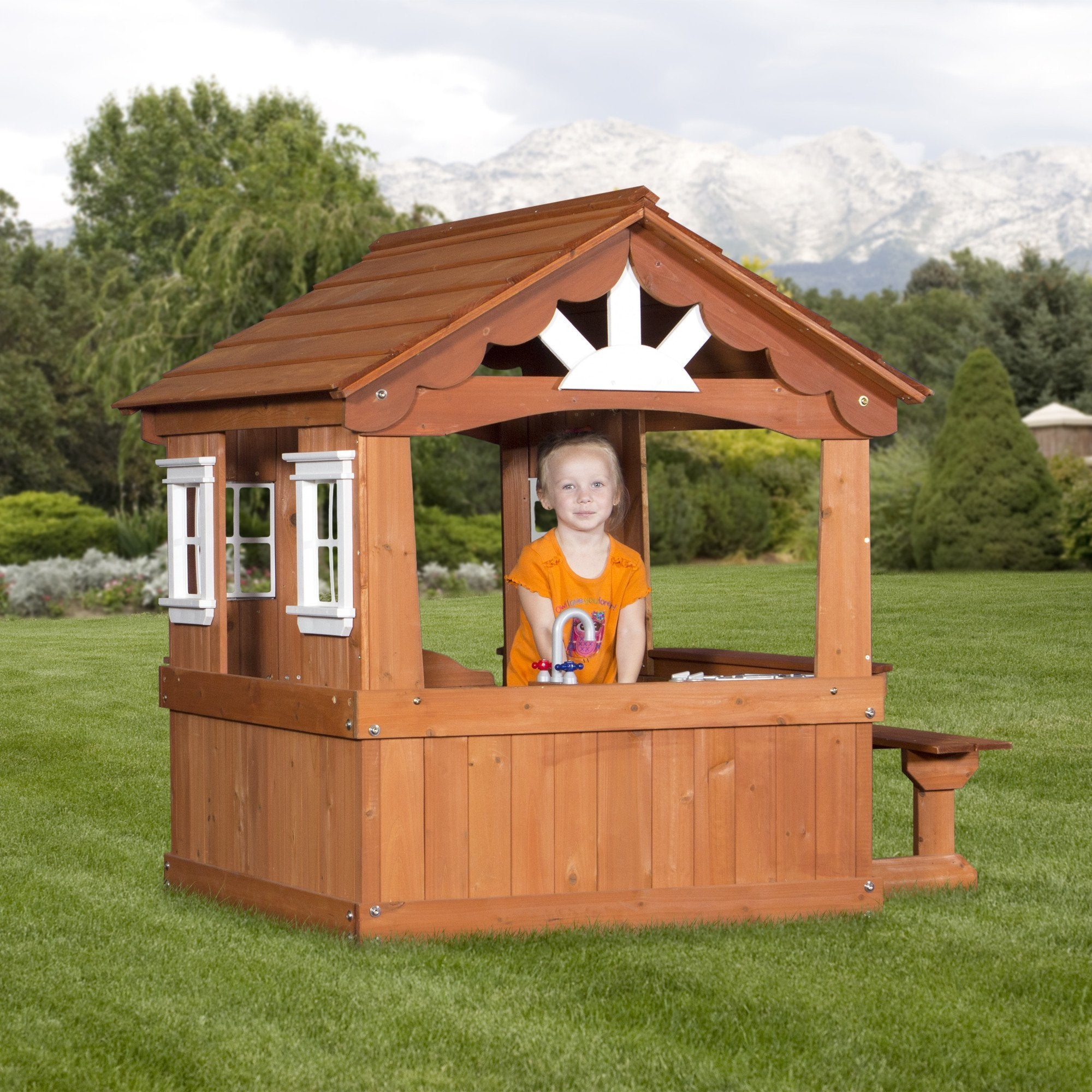 fresh playhouse for backyard architecture nice