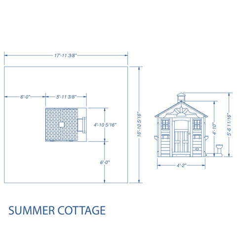 Wooden Playhouses - Summer Cottage Playhouse #details