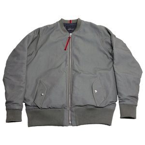 MILITARY CANVAS MA-1 FLIGHT JACKET [FATIGUE GREEN]