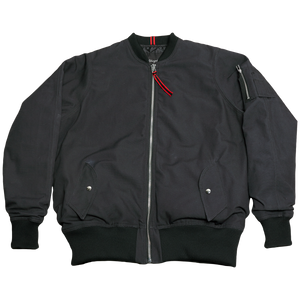 MILITARY CANVAS MA-1 FLIGHT JACKET [BLACK]