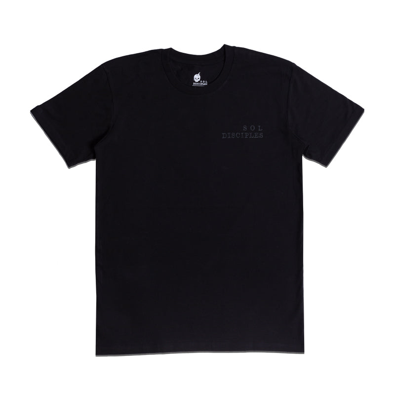 SKULL LOGO T-SHIRT [TRIPLE BLACK]