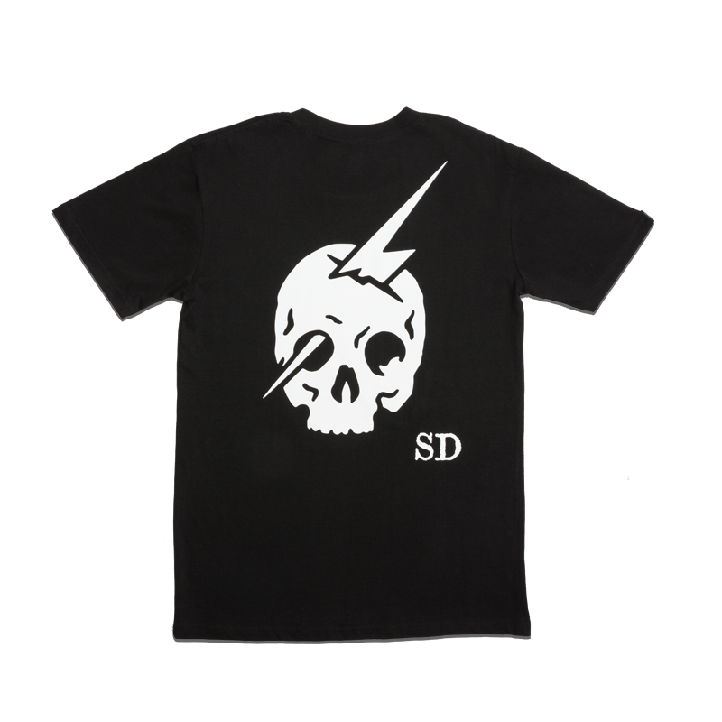 SKULL LOGO T-SHIRT [BLACK]