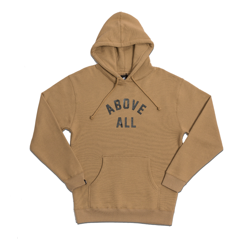 ABOVE ALL PULLOVER HOODY [CAMEL]
