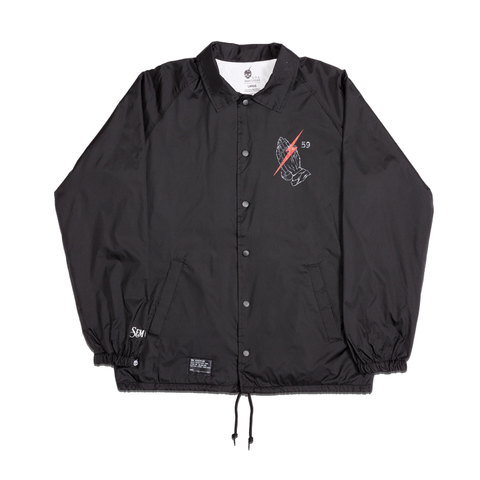 +PHILTHY RICH | SEMINARY COACH JACKET [BLACK]