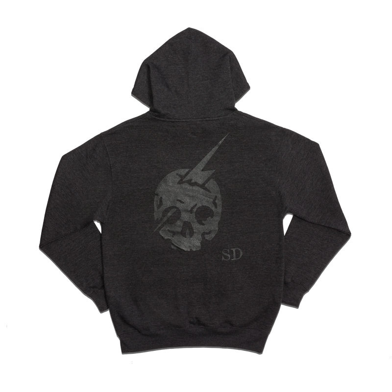 SKULL LOGO PULLOVER HOODY [HEATHER CHARCOAL]