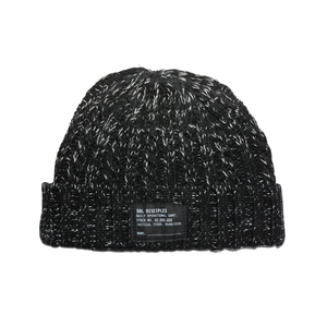 SURPLUS CABLE KNIT BEANIE [HEATHER BLACK]