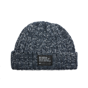 SURPLUS CABLE KNIT BEANIE [HEATHER NAVY]