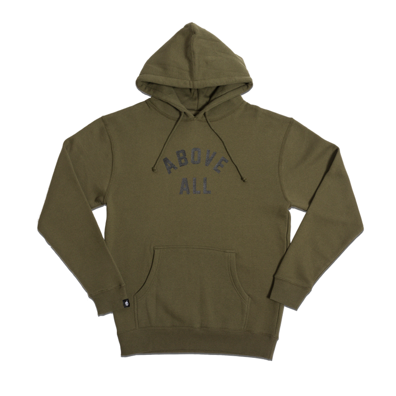 ABOVE ALL PULLOVER HOODY [ARMY GREEN]
