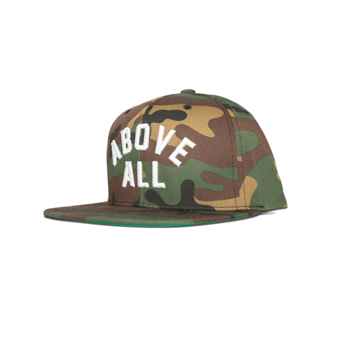 ABOVE ALL SNAPBACK [WOODLAND CAMO]