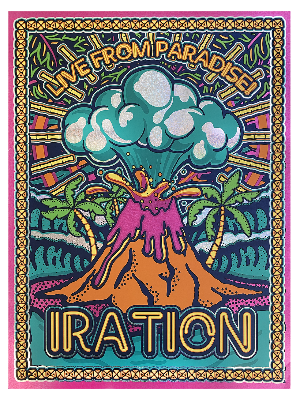 Live From Paradise Foil Poster
