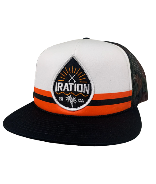 Striped Drop Trucker - Black/Orange
