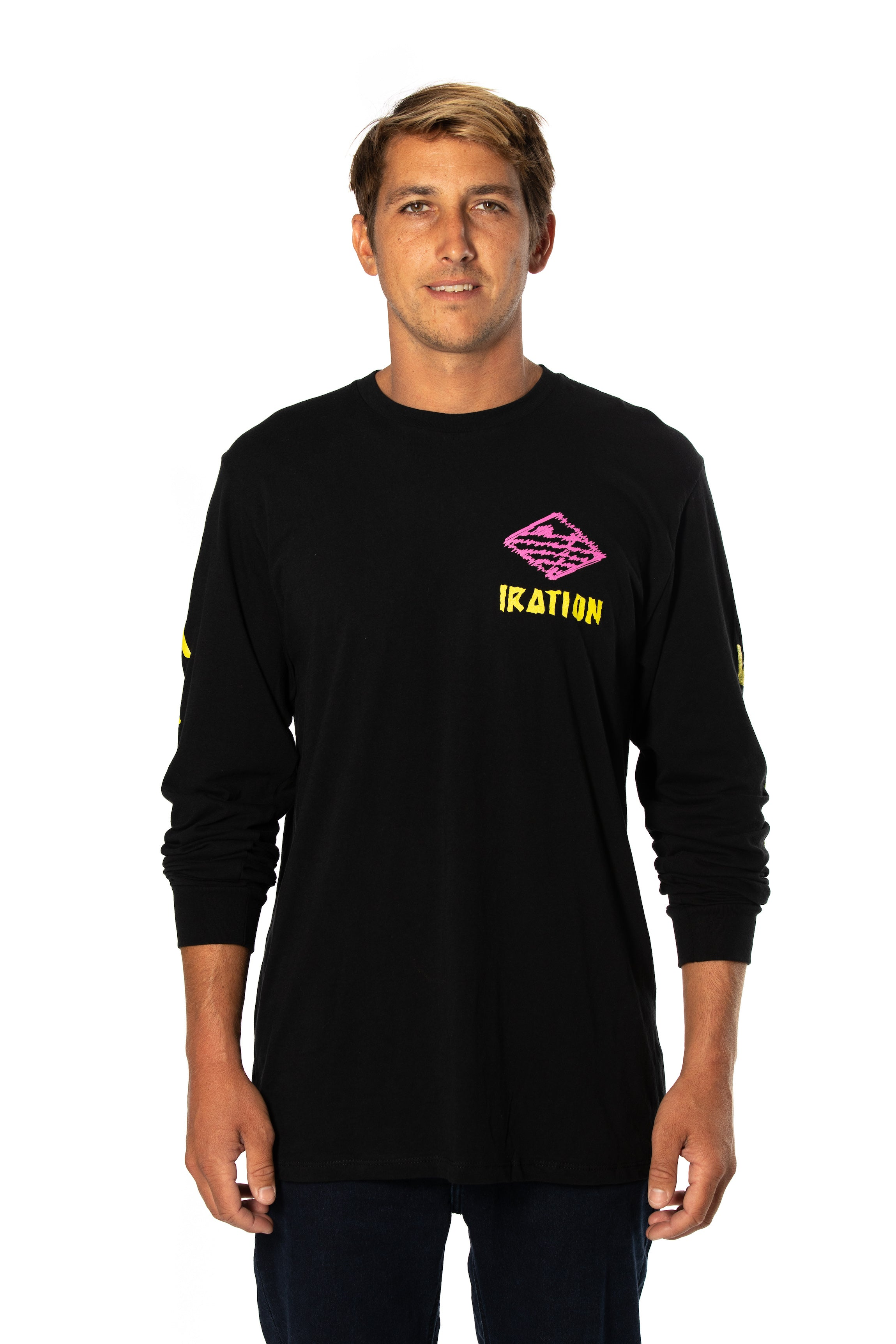 Scribble Black Long Sleeve
