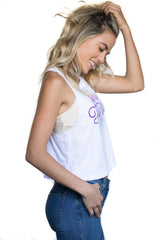 Women's Come Fly With Me Cropped Tank
