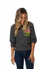 Neon Sunrise Grey Long Sleeve