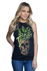 Women's Pineskull Tank Black