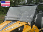 HARD WINDSHIELD for Kawasaki Teryx 4 - Travels Highway Speeds - Polycarbonate
