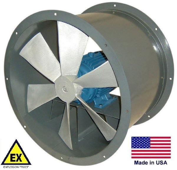"34"" TUBE AXIAL DUCT FAN - Explosion Proof - 230/460V 13,350 CFM - Direct Drive"