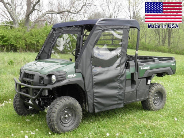 Kawasaki Pro FXT Enclosure for EXISTING WINDSHIELD - Roof, Doors, Rear Window