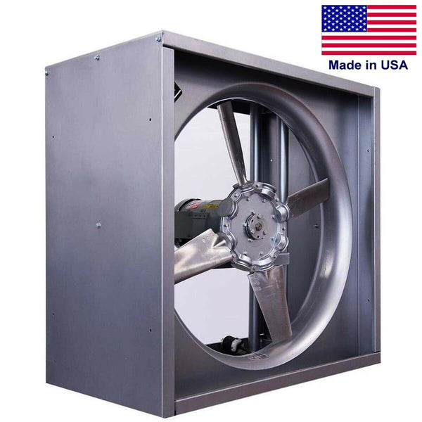 "48"" Reversible Supply & Exhaust Fan - 14900 CFM - 115/230V - 1 Ph - Direct Drive"