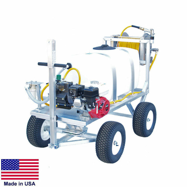 SPRAYER Commercial Trailer Mounted - 50 Gallon Tank - 9.5 GPM - 580 PSI - 5.5 HP
