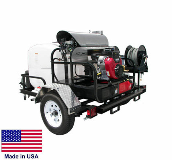 PRESSURE WASHER Hot Water - Trailer Mount - 200 Gal - 8 GPM - 3500 PSI - 12V G