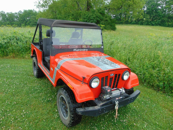 VENTED HARD Windshield & ROOF for Mahindra Roxor - Soft Top - Puncture Resistant