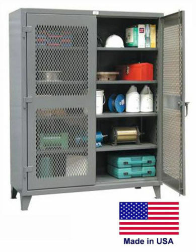"Commercial STEEL CABINET - Lockable - Vented - Shelves 4 - 78""H x 24""D x 36""W"