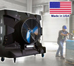 Portable Evaporative SWAMP COOLER - 28500 CFM - 6250 sqft - 230 V - 75 Gal Tank