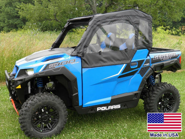 DOORS for Polaris General - Zip Down Windows - Puncture Proof - Soft Acrylic
