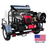 PRESSURE WASHER Hot Water - Trailer Mount - 200 Gal - 5 GPM - 3000 PSI - 115V A