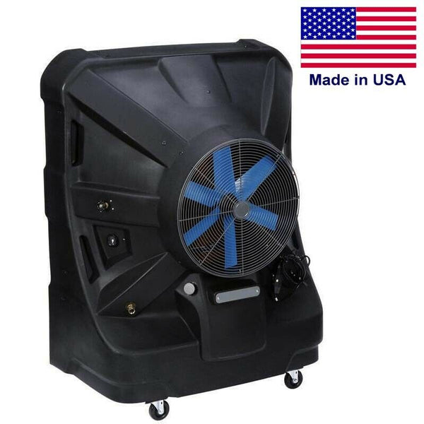 "Portable SWAMP COOLER - 8500 CFM - 2125 sqft - 120V - 55 Gal Tank - 24"" Blade"