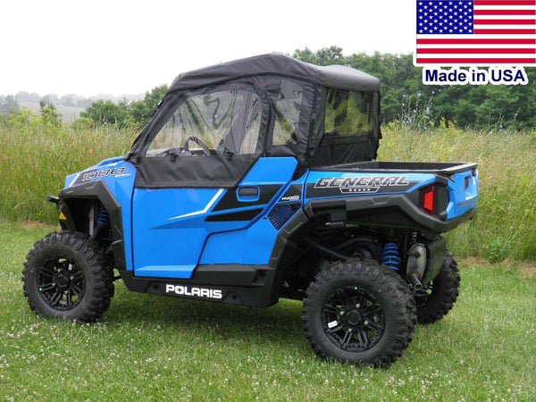 Polaris General Full Enclosure - HARD WINDSHIELD - DOORS - REAR WINDOW - ROOF