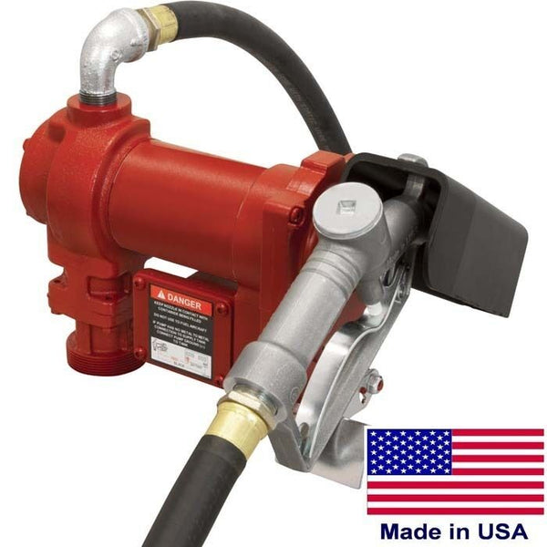 "Fuel Transfer Pump - 12 Volt - 15 GPM - 2,600 RPM - 1/4 HP - Inlet 1"" Outlet 3/4"