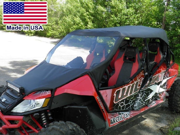 Arctic Cat Wildcat 4 Vinyl Windshield and Roof - Top - Canopy - Commercial Duty